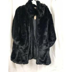 Ariat Women's Brown Long Lux Fur Soft Black Jacket